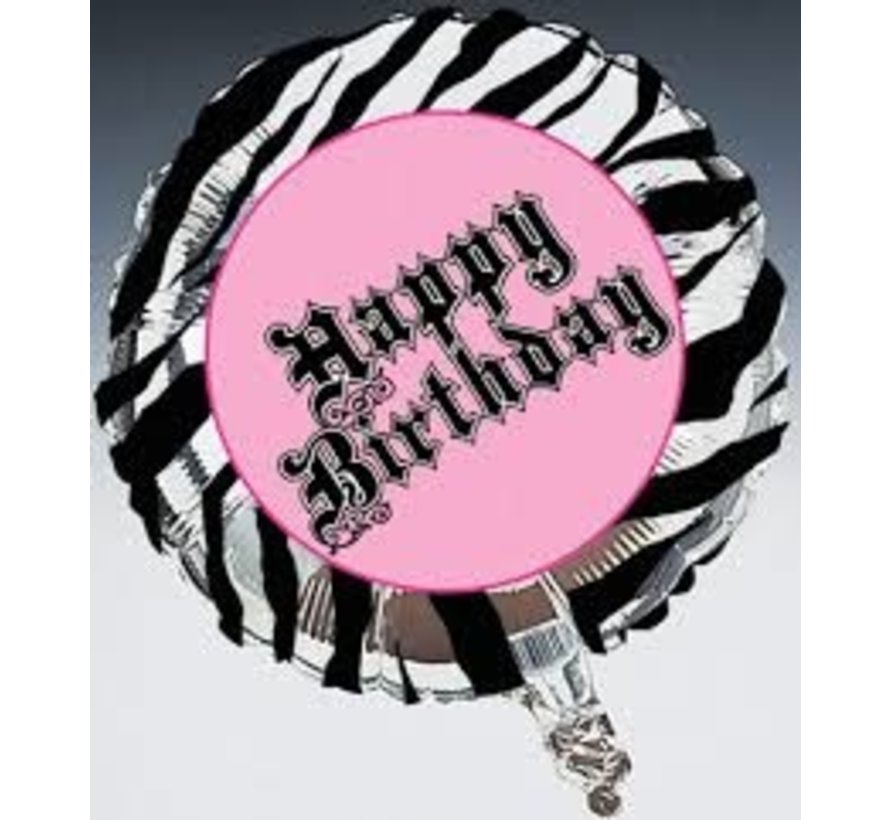 Heliumballon Zebra Passion Happy Birthday