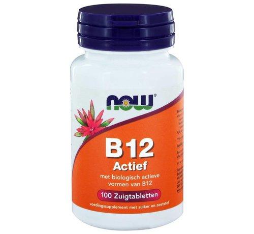 NOW Foods Vitamine B12 Actief zuigtabletten 100 stuks