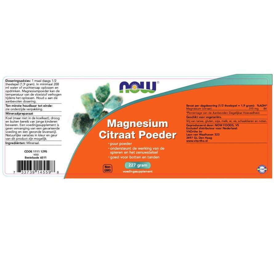 Magnesium Citraat poeder 227 gram