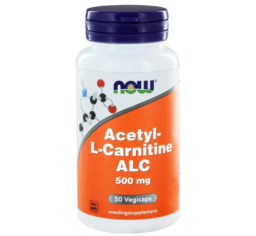 NOW Foods Acetyl-L-Carnitine 500 mg 50 vegicaps