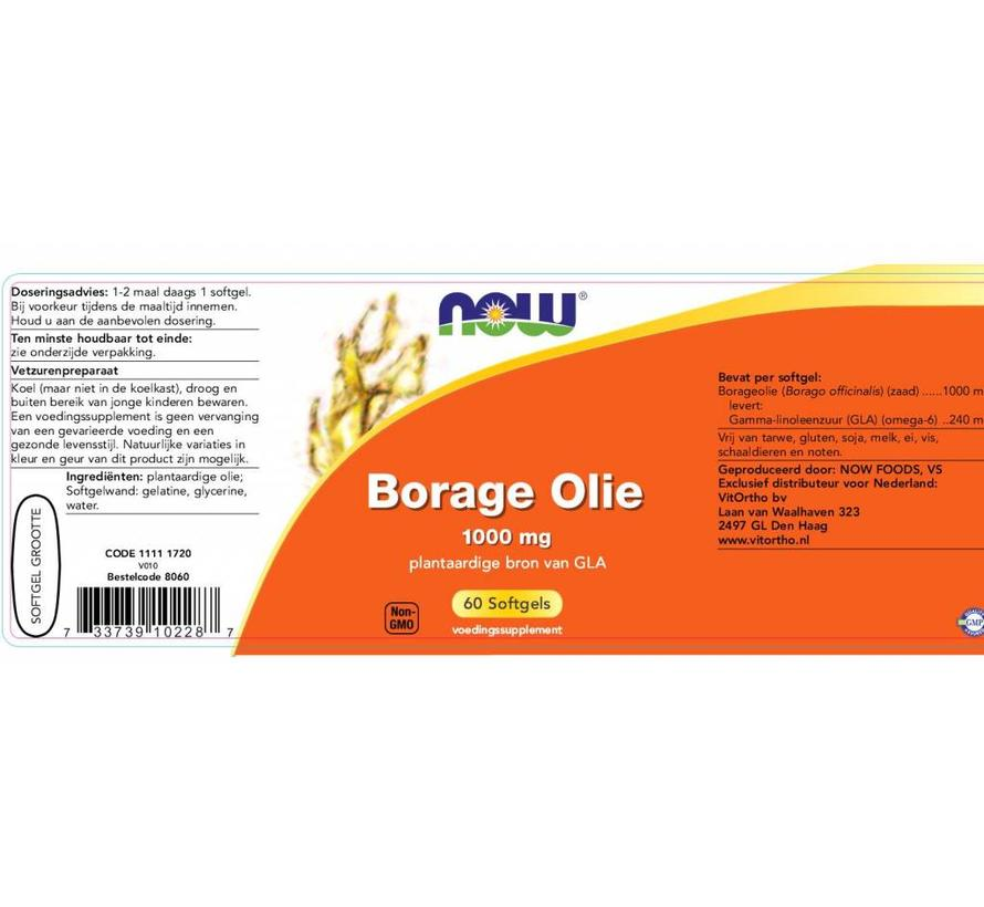 Borage Olie 1000 mg  60 softgels