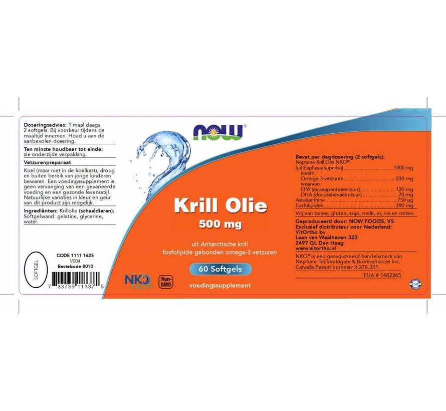 Krill Olie 500 mg 60 softgels