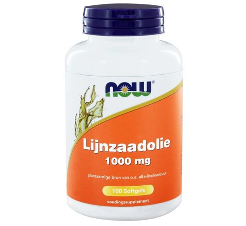 NOW Foods Lijnzaadolie (Flax Oil) 1000 mg