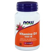 NOW Foods Vitamine D3 1000 IE  90 softgels