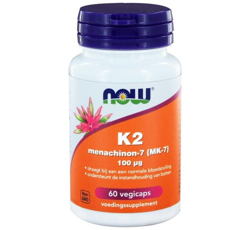 NOW Foods K2 Menachinon 7 100 µg  60 vegetarische capsules
