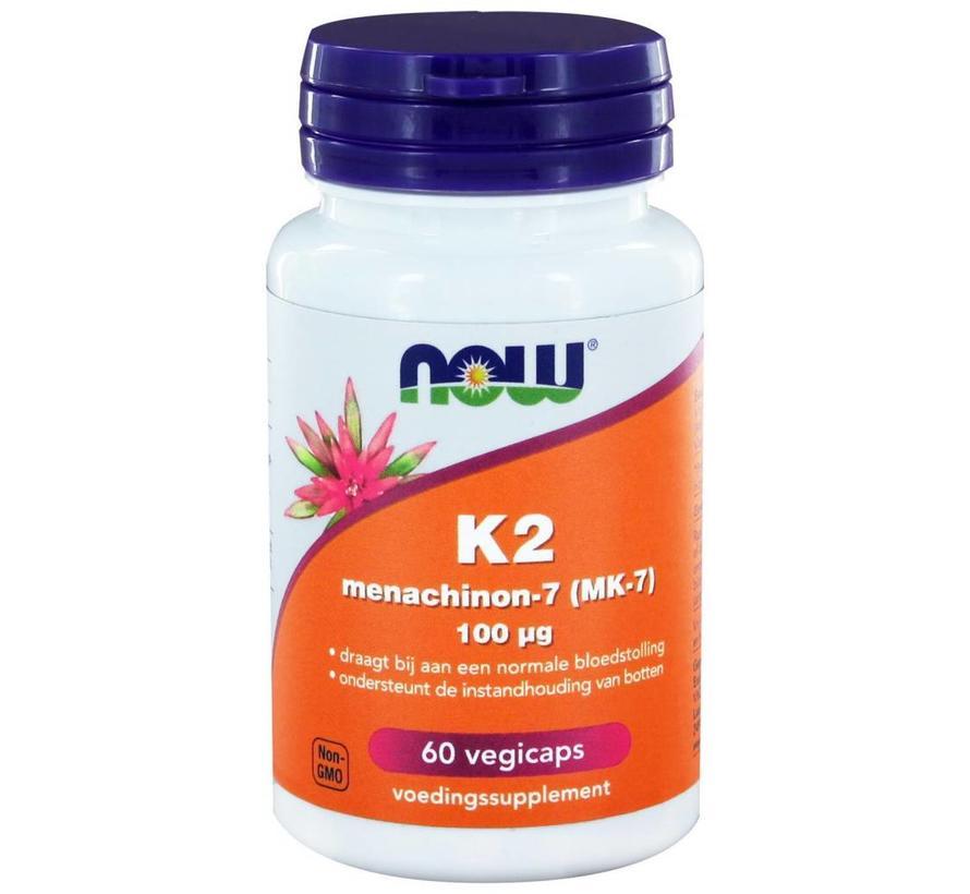 K2 Menachinon 7 100 µg  60 vegetarische capsules