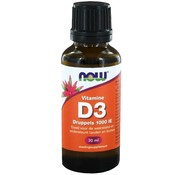 NOW Foods Vitamine D3 druppels 1000 IE  30 ml