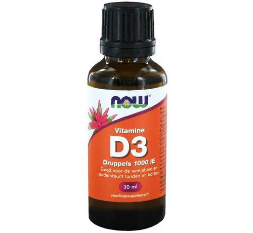 NOW Foods Vitamin D3 tropfen 1000 IE  30 ml