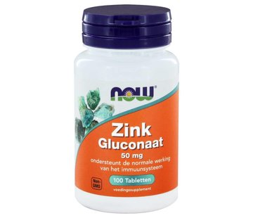 NOW Foods Zink Gluconaat 50 mg