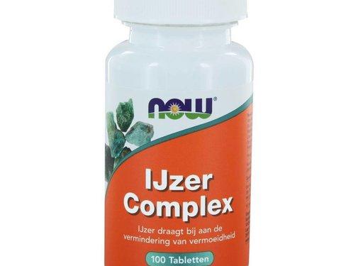 NOW Foods IJzer Complex  100 tabs