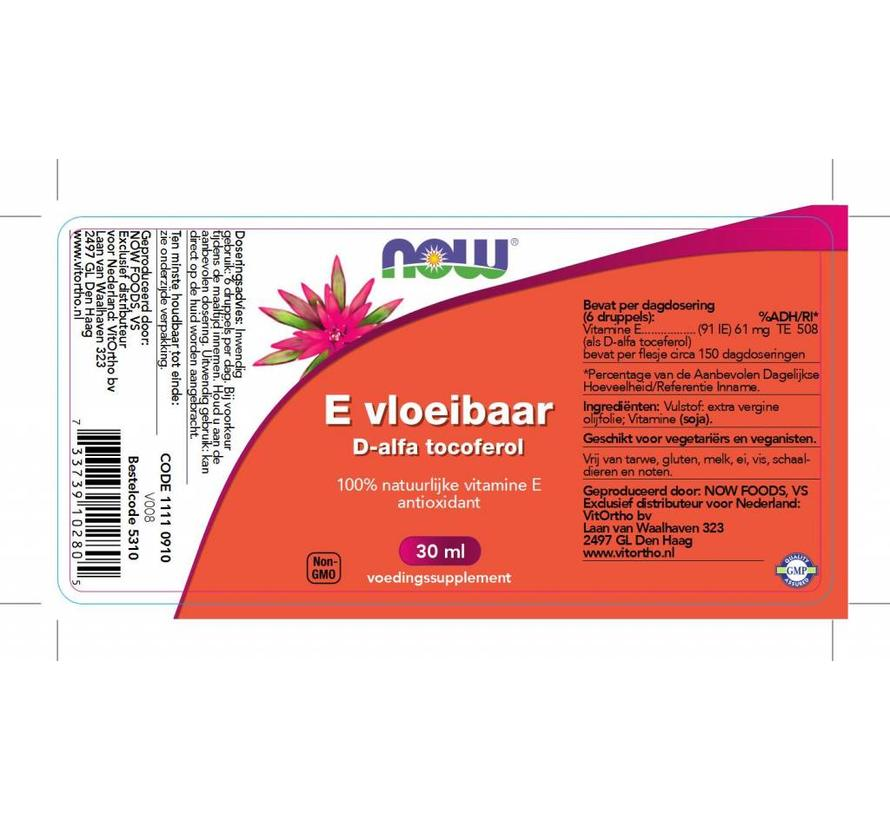 E Vloeibaar 13.650 IE d-alfa tocoferol 30 ml