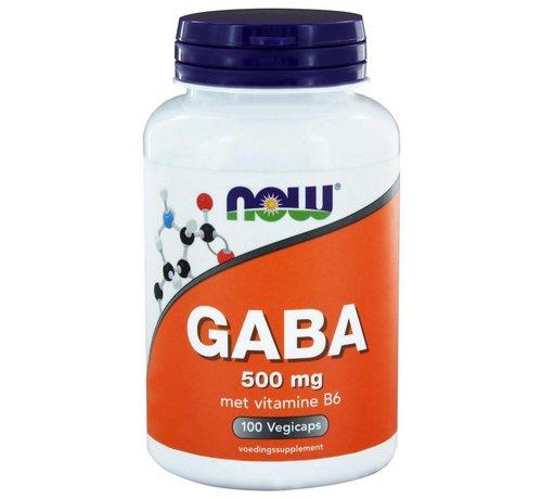 NOW Foods GABA 500 mg 100 vegicaps