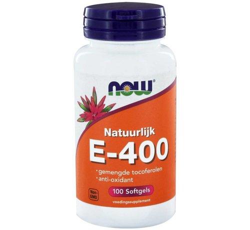 NOW Foods E gemengde tocoferolen E-400 100 softgels