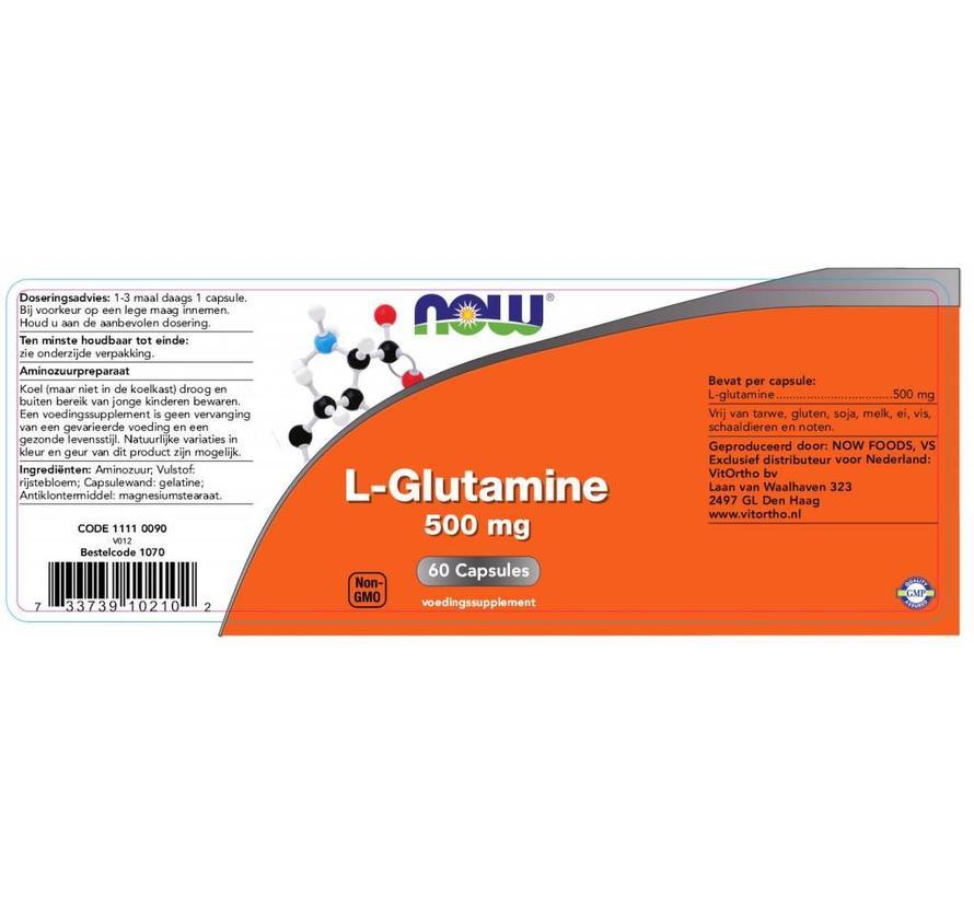500mg  L-Glutamine 60 capsules