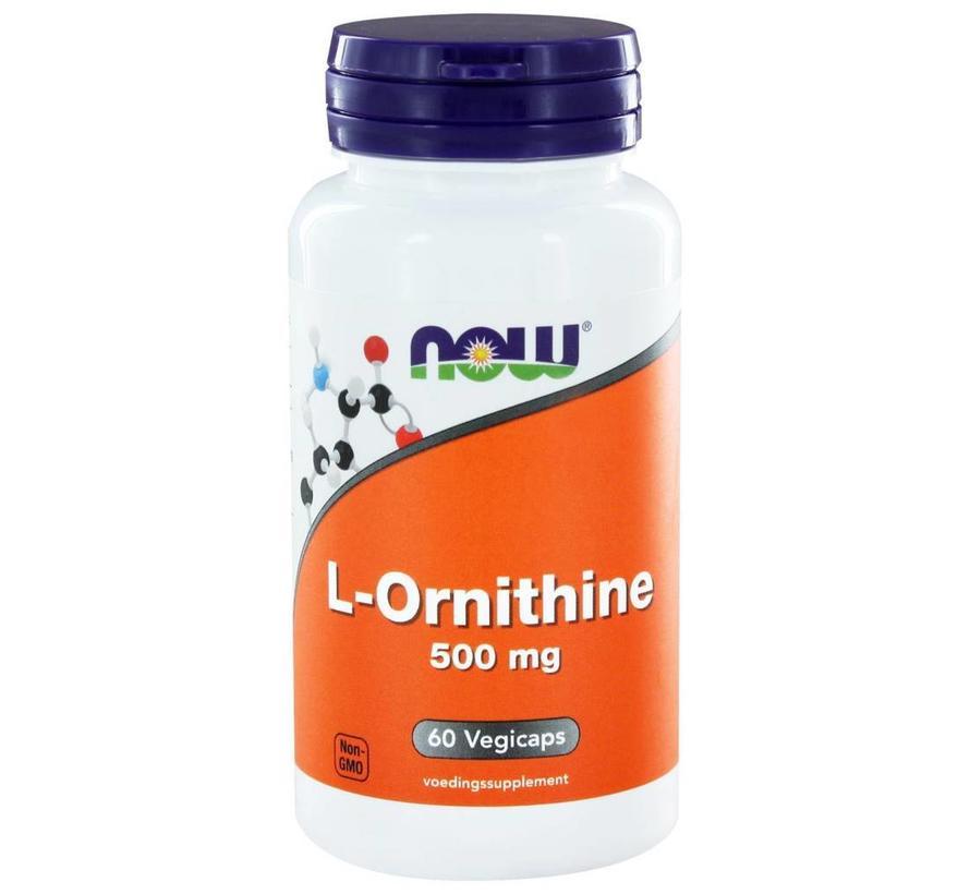L-Ornithine 500mg Capsules 60 vegicaps