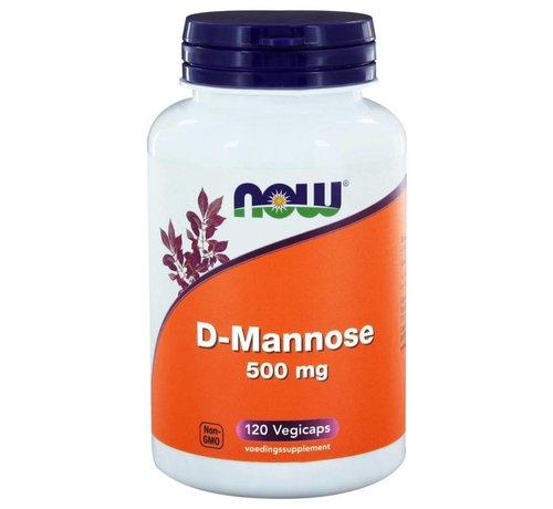 NOW Foods D-Mannose 500 mg 120 vegicaps