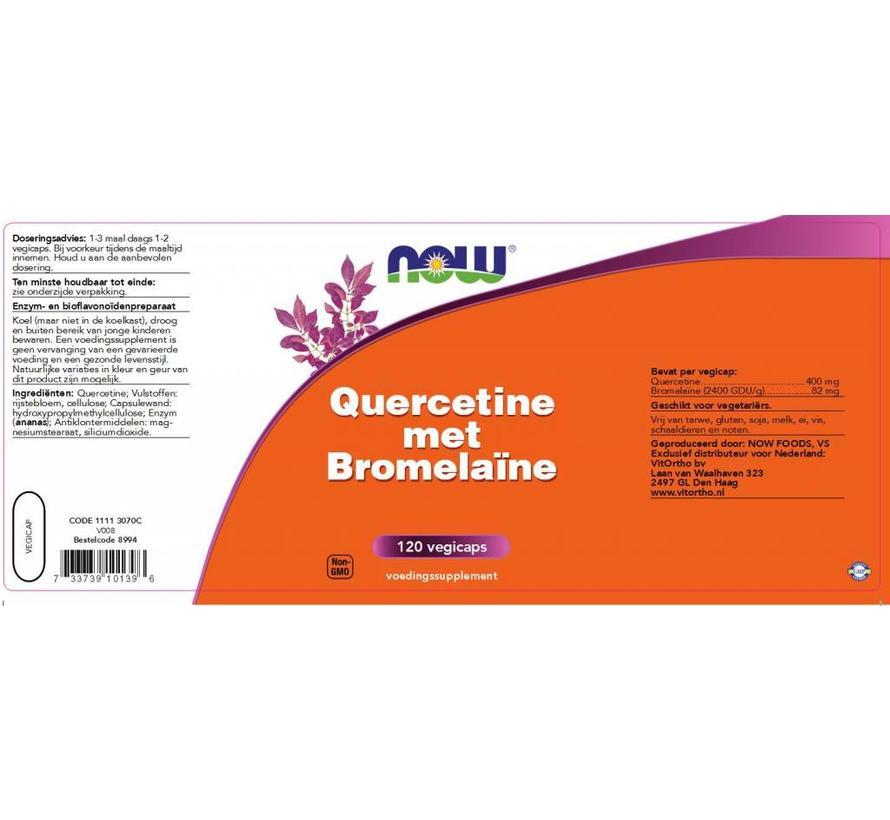Quercetine met Bromelaïne 120 vegicaps