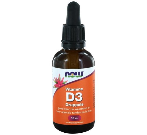 NOW Foods Vitamine D3 druppels 60ml