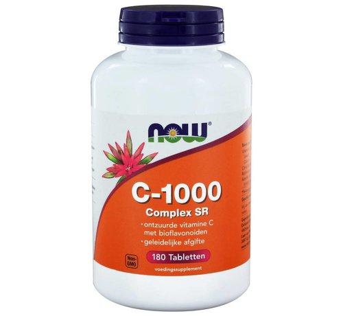 NOW Foods Vitamine C-1000 Complex SR Gebufferde C 180 tabs