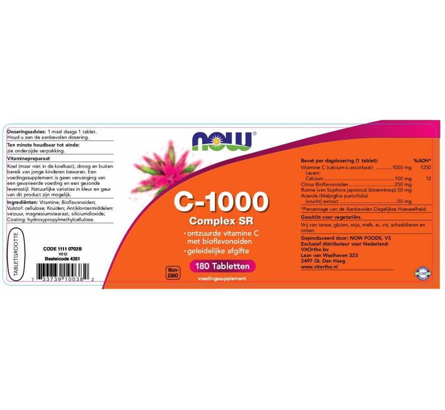 Vitamine C-1000 Complex SR Gebufferde C 180 tabs
