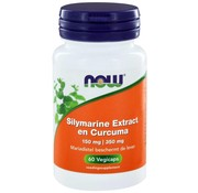 NOW Foods Silymarine Extract 150mg met Curcuma 350mg