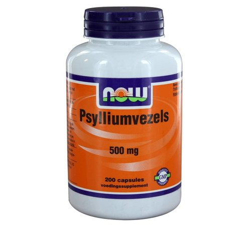 NOW Foods Psylliumvezels 500 mg 200 caps