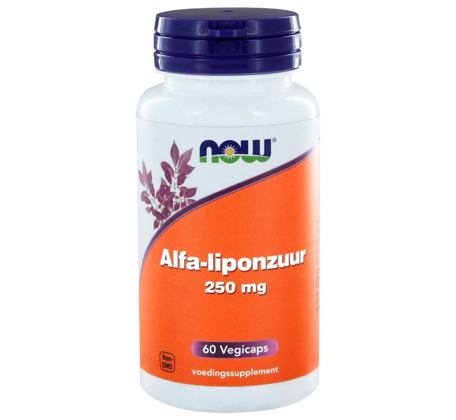 Alfa-liponzuur 250 mg 60 vegetarische capsules-liponzuur