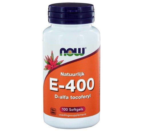 NOW Foods E-400 d-alfa Tocoferyl 100 softgels