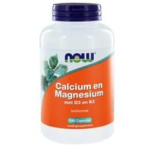Calcium en Magnesium met D3 en K2 (180 caps)