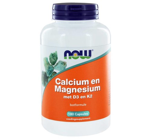 NOW Foods Calcium and Magnesium with D3 and K2 (180 caps)