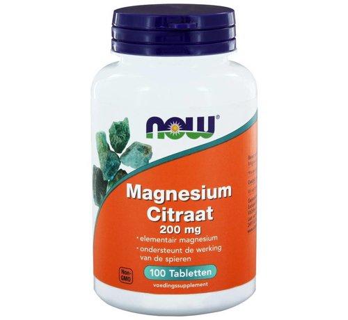 NOW Foods Magnesium Citraat 200 mg 100 tabletten
