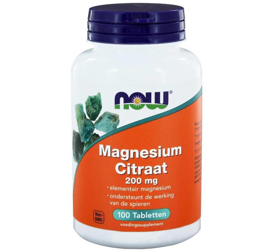 Magnesium Citraat 200 mg 100 tabletten