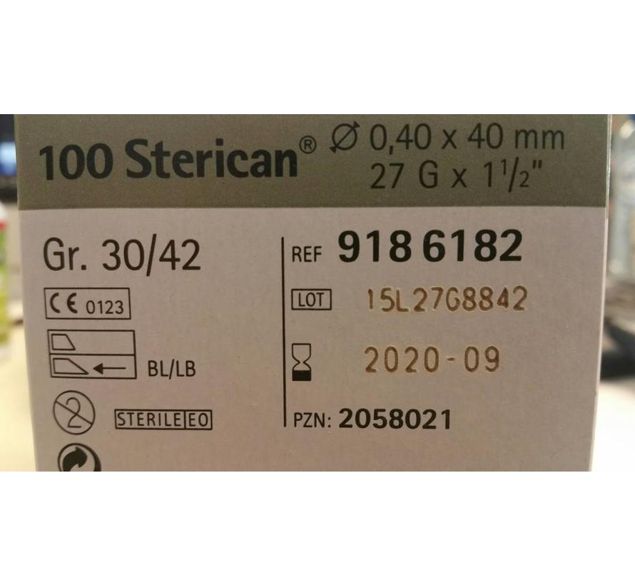 10  steriele extra dunne injectie naalden 27G GR 30/42 5 pieces