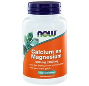 NOW Foods Calcium 500 mg en Magnesium 250 mg