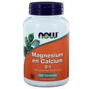 NOW Foods Magnesium en Calcium 2:1  100 tabs