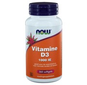 NOW Foods Vitamine D3 1000 IE 360 softgels
