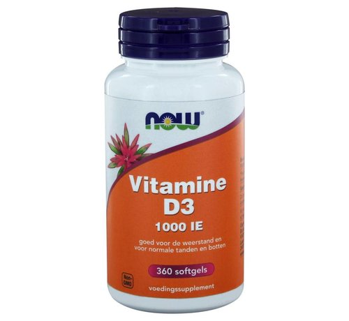 NOW Foods Vitamine D3 1000 IE 360 softgels 360 softgels