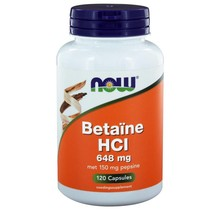 Betaïne HCl 648 mg 120 vegicaps