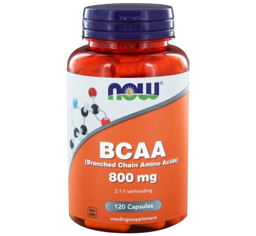 NOW Foods BCAA 800 mg (Branched Chain Amino Acids) 120 capsules
