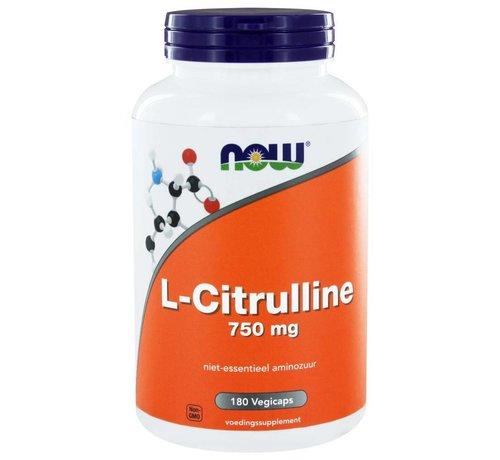 NOW Foods L-Citrulline 750 mg 180 vegicaps