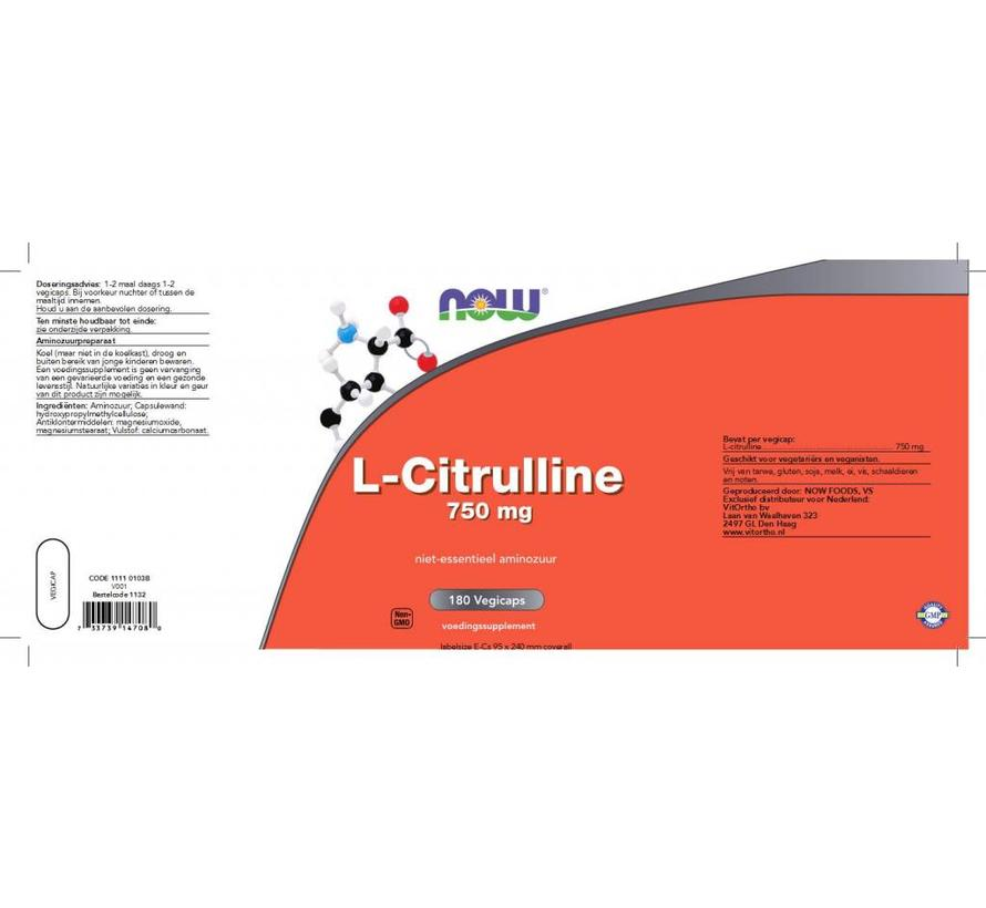 L-Citrulline 750 mg 180 vegicaps