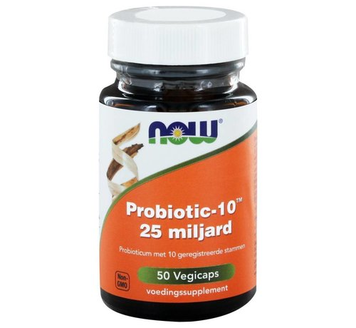 NOW Foods Probiotic-10™ 25 miljard 50 vegetarische capsules