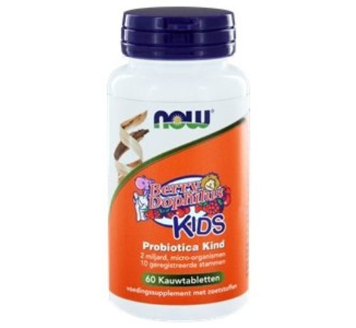 NOW Foods BerryDophilus KIDS Probiotica Kind 60 kauwtabs