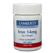 Lamberts IJzer (iron) citraat 14 mg