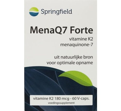 Springfield MenaQ7 Forte vitamine K2 180 mcg 60vc 60vc