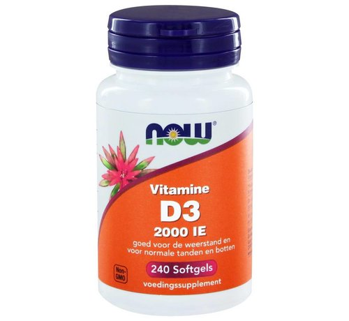 NOW Foods Vitamine D3 2000 IE 240 softgels