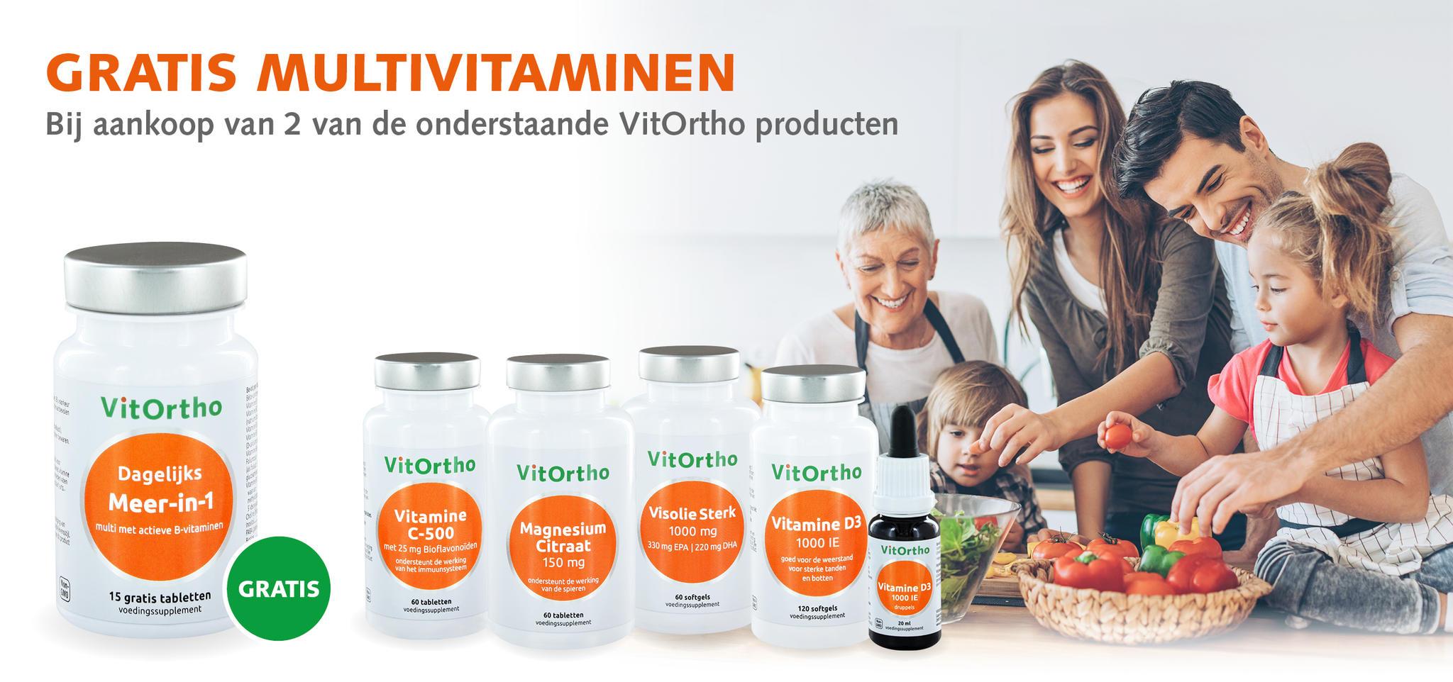 Actie VitOrtho Gratis Multivitamine