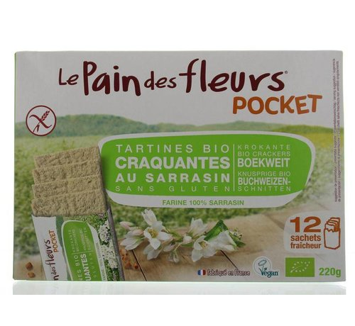 Pain Des Fleurs Boekweit cracker pocket