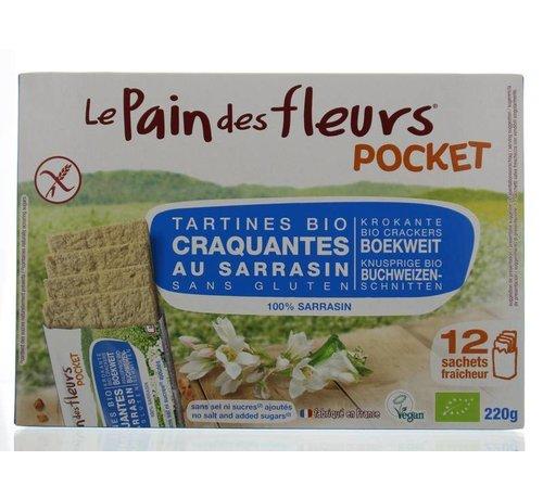 Pain Des Fleurs Boekweit cracker zonder zout pocket