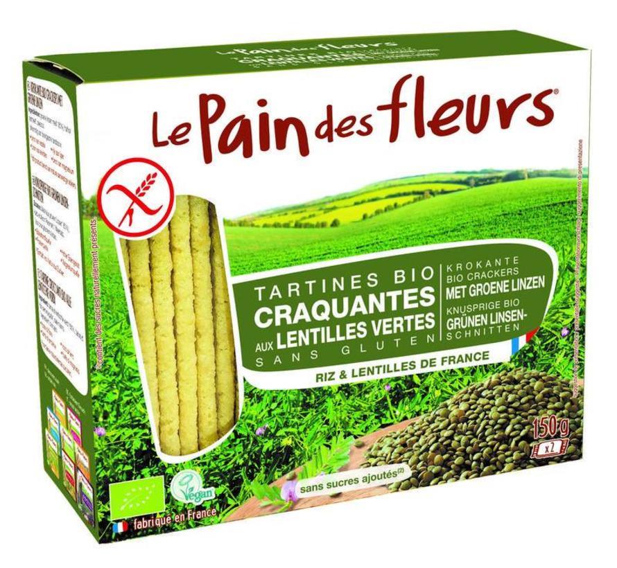 Crackers groene linzen